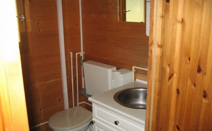 WC im Gartenhaus