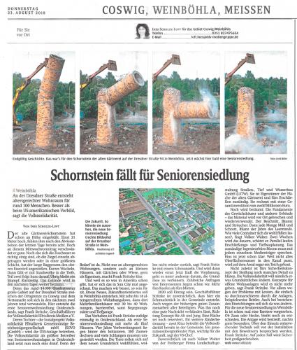 2018 08 23 SZ Schornsteinfällung 1