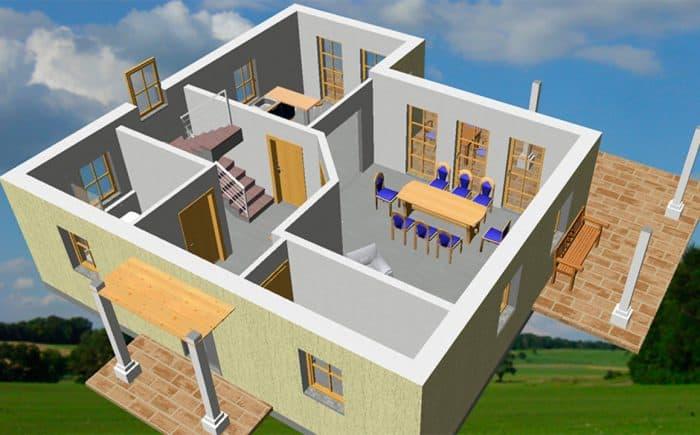 3D Grundriss-EG