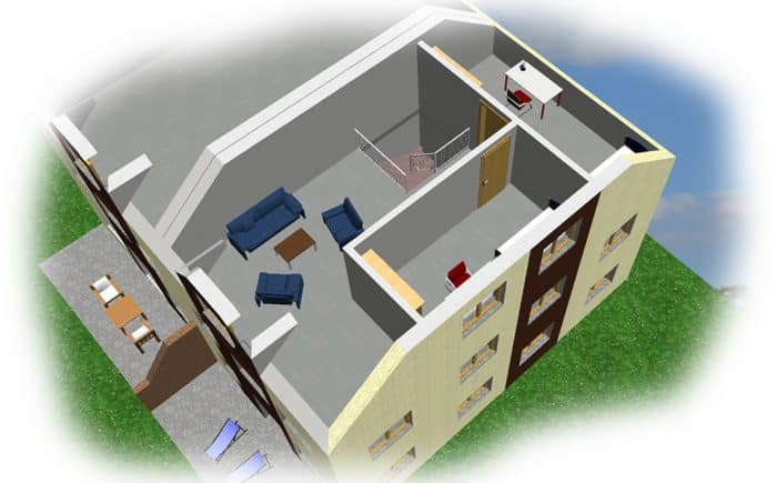 3-D Grundrissvorschlag DG