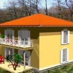 Hausansicht Terrasse/Balkon