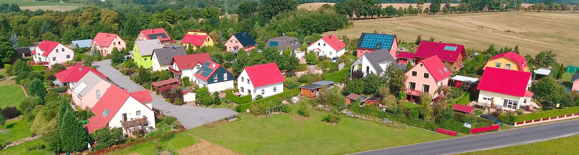 Baugebiet Dresden Einfamilienhäuser Referenz