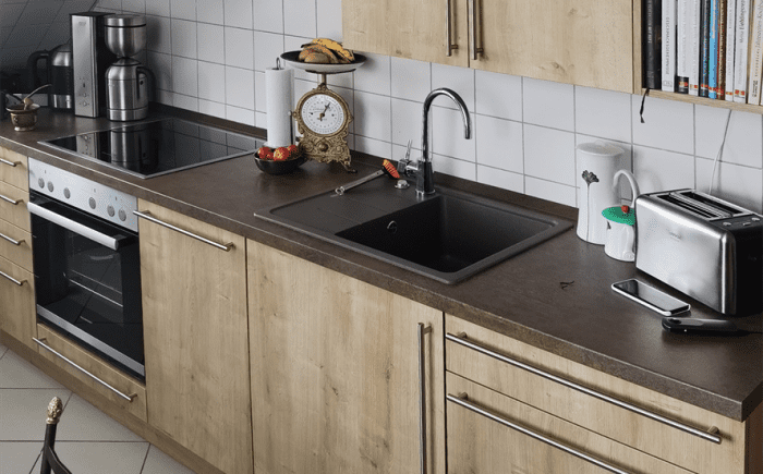 Küche lange Front 2
